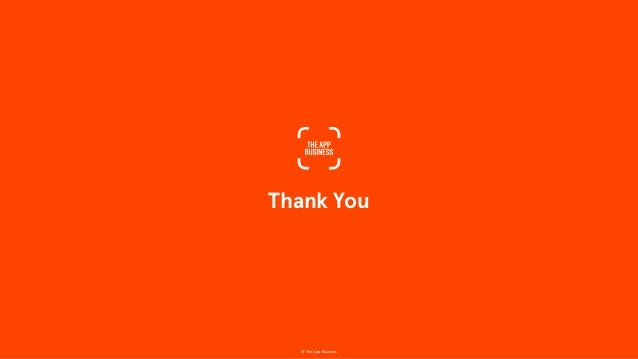 Thank You © The App Business