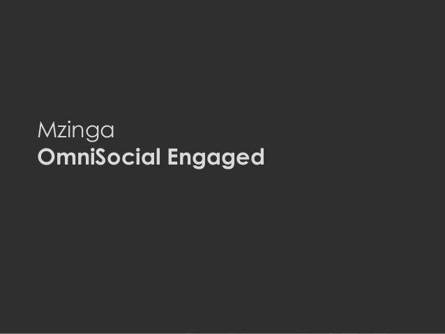 MZINGA l MZINGA.COM 1 Mzinga OmniSocial Engaged