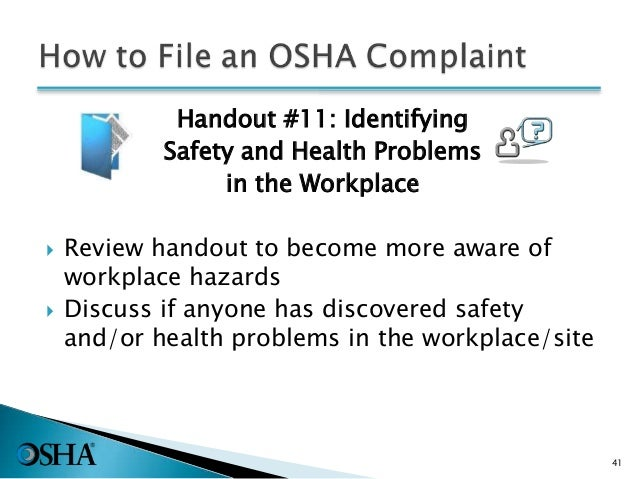 awareness of occupational hazards