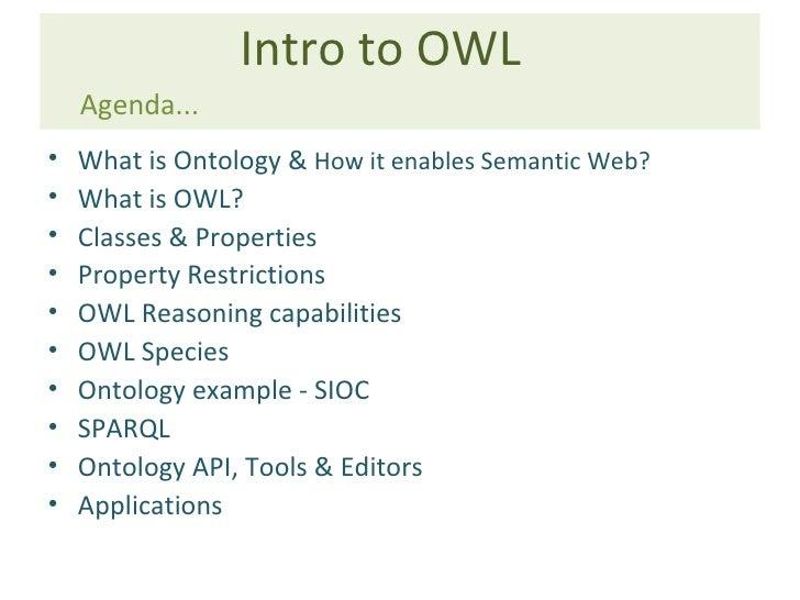 Intro to OWL & Ontology