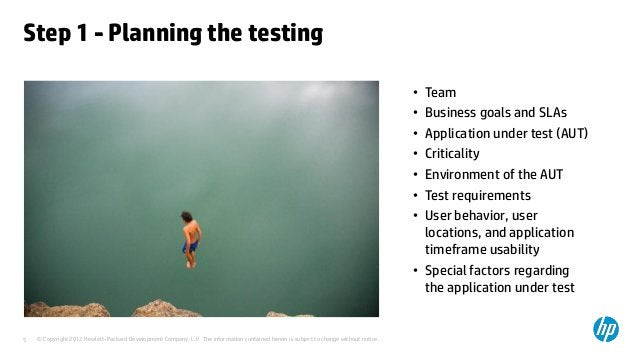 Step 1 - Planning the testing                                                                                             ...
