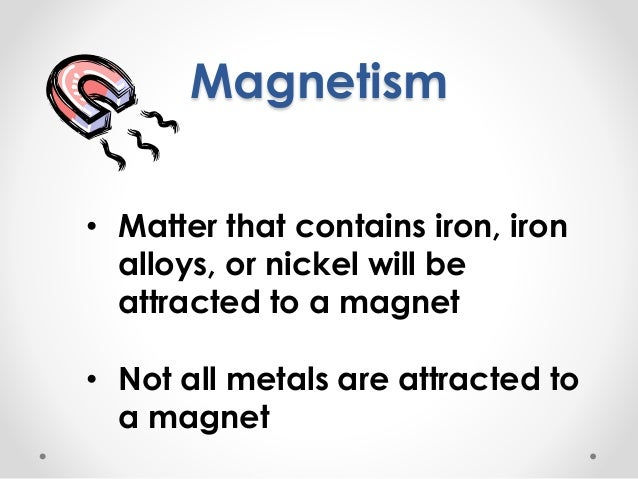 Intro to physical properties of matter Slide 2