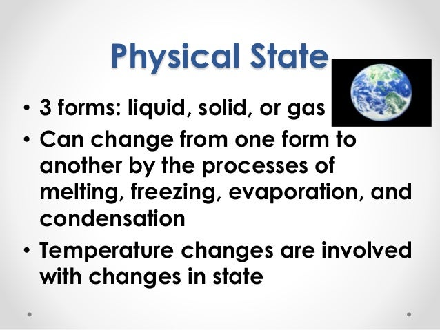 Intro to physical properties of matter Slide 3