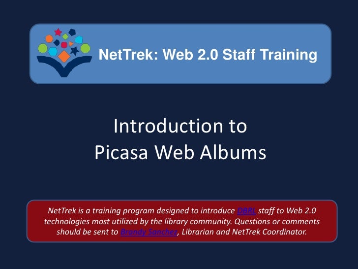 Introduction to Picasa Web Albums<br />