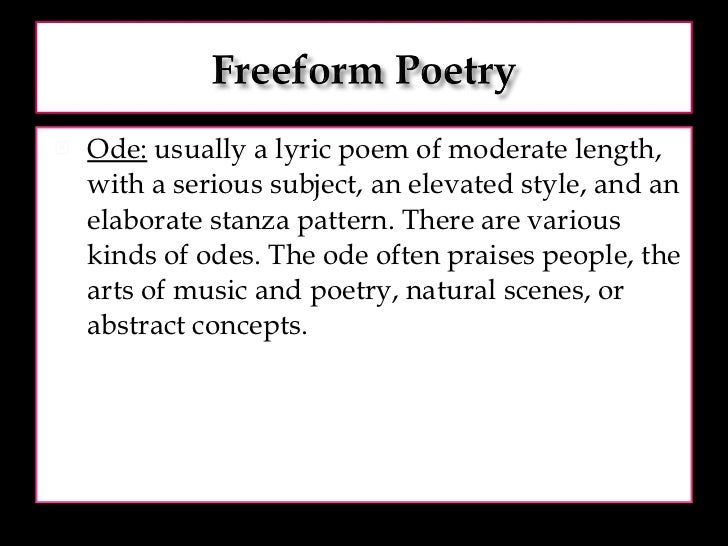 ode poem examples - photo #23