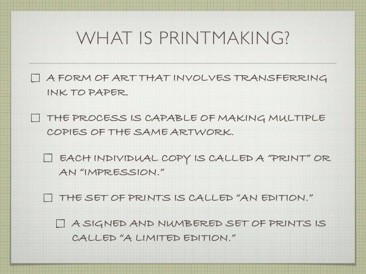 Printmaking Area   Department of Visual Art The Good Samaritan