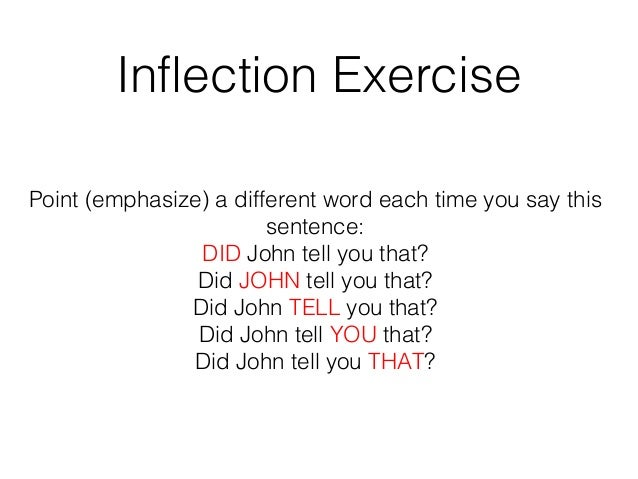 how to work on voice inflection