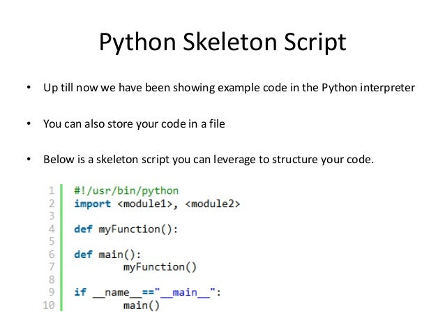 Writing a simple script in python what does that mean