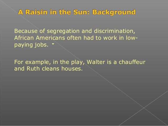Intro To Raisin In The Sun Ppt