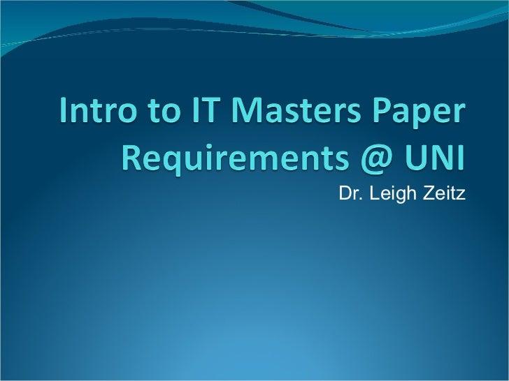 Dr. Leigh Zeitz
