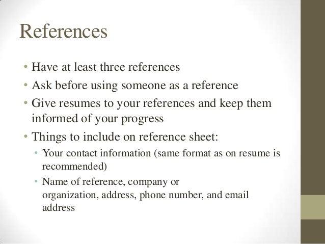 three references