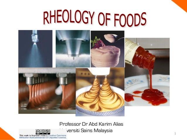Rheology of Foods
