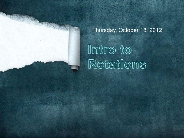 Thursday, October 18, 2012: