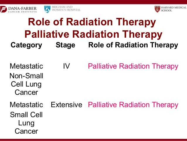 how is radiation therapy used to help lung cancer patients