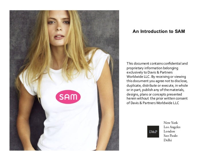 An Introduction to SAMThis document contains confidential and proprietary information belonging exclusively...