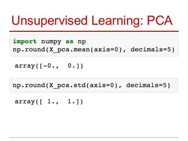 Unsupervised Learning: PCA