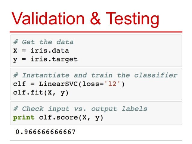 Validation & Testing
