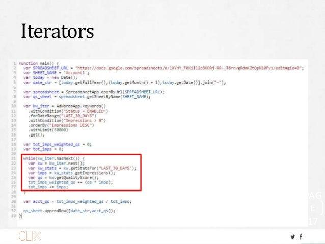 Iterators PAG E 17