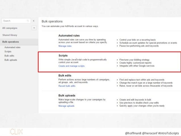 @hoffman8 @heroconf #IntroToScripts Slide 26