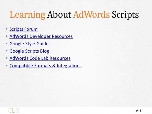 Free Scripts • FreeAdWordsScripts.com • Google Developer Solutions • Free Code Snippets • RankHammer's Script Compilation ...