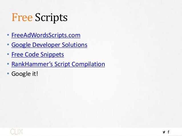 Smart People. • Russell Savage, FreeAdWordsScripts.com @russellsavage • Steve Hammer, Rank Hammer @armondhammer • Dan Gilb...
