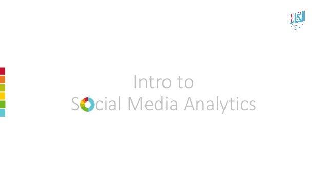 Intro to ScialMedia Analytics