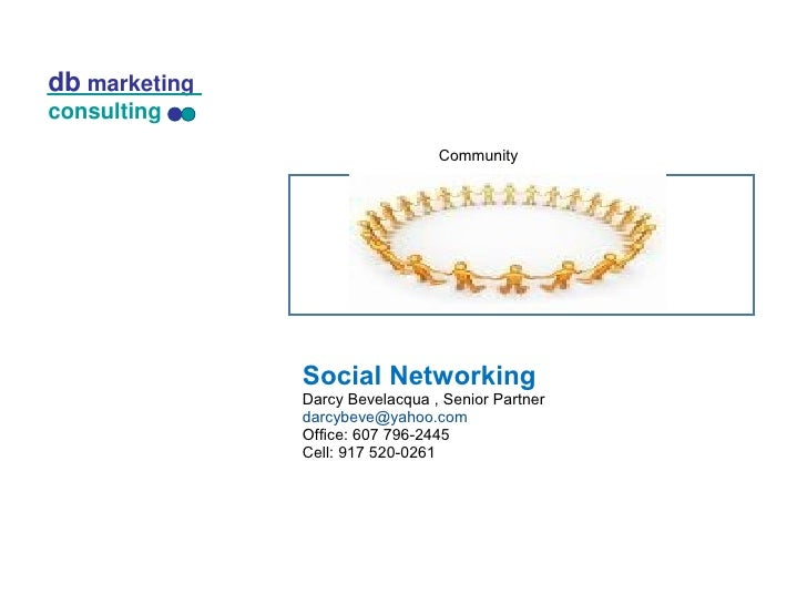 db marketing consulting                                    Community                    Social Networking                D...