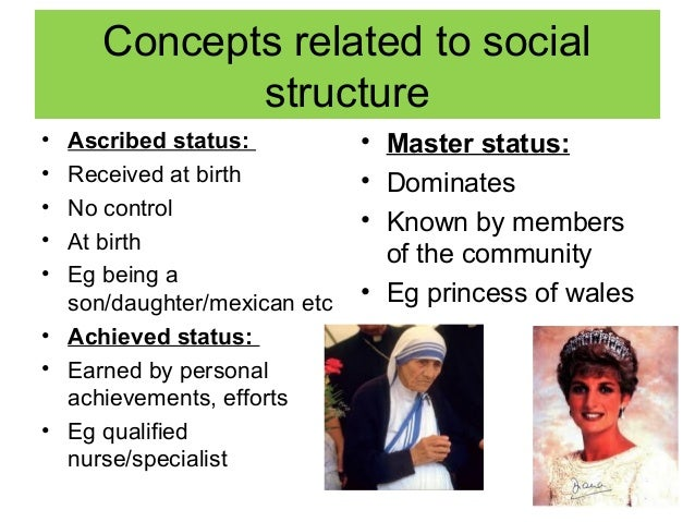 examples of achieved status in sociology