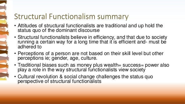 Essay on Structural Functional Theory