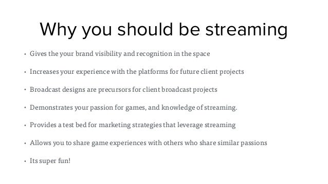 How to Stream Video Games: A Primer on Twitch tv