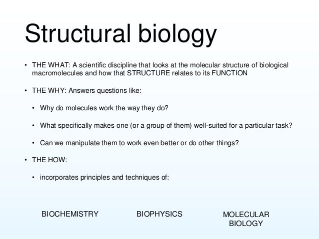 Intro to structural biology Slide 3