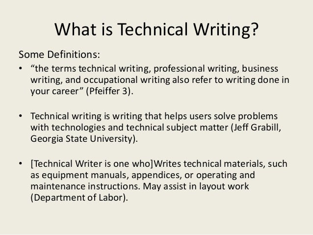 Intro To Technical Writing