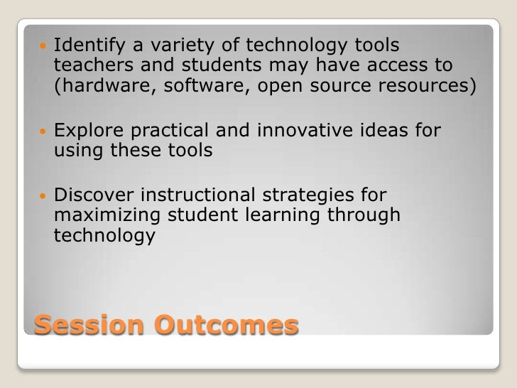 Innovative Classroom Strategies For Effective On Educational Transaction : Intro to tech tools