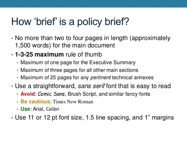 introduction to technical writing the policy brief