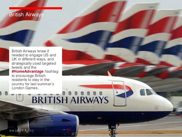 British Airways British Airways knew it needed to engage US and UK in different ways, and strategically used targeted twee...