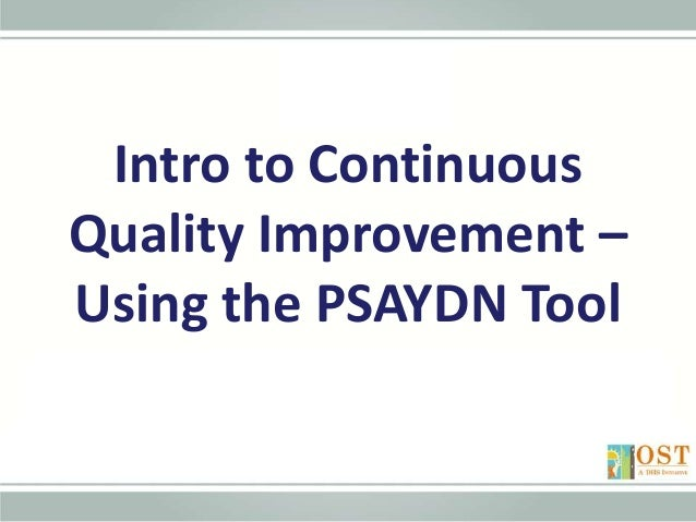 Intro To The Cqi Process 2015 4 8