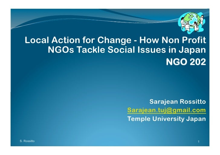 Local Action for Change - How Non Profit        NGOs Tackle Social Issues in Japan                                   NGO 2...