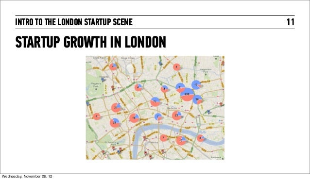 INTRO TO THE LONDON STARTUP SCENE   11      STARTUP GROWTH IN LONDONWednesday, November 28, 12