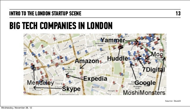 INTRO TO THE LONDON STARTUP SCENE            13      BIG TECH COMPANIES IN LONDON                                         ...