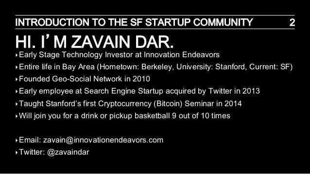 SF Startup Ecosystem Slide 2