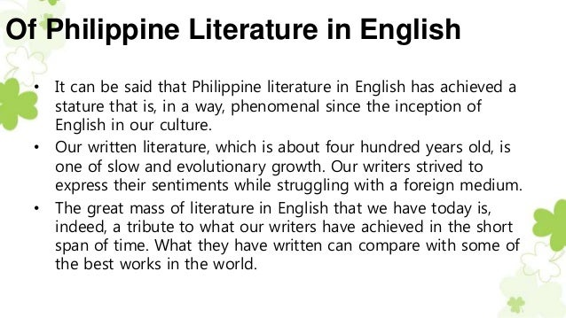 understanding ourselves through philippine literature What can one do to help enrich, contribute, and improve the philippines and the filipino culture update cancel to rebuild ourselves culturally as a people.