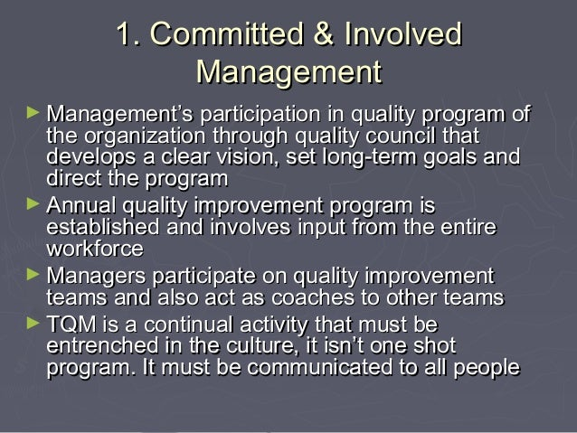 an introduction to the total quality management Learn about total quality management in this topic from the free management library.