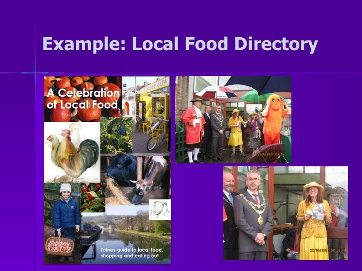 Example: Local Food Directory