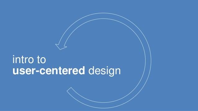 intro to  user-centered design