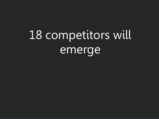 18 competitors will emerge