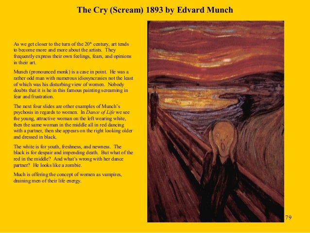 "edvard munch the scream analysis essay Analysis of ""the scream"" ""the scream"" was painted in the end of the 19th century, and is possibly the first expressionist painting the scream was very different from the art of the time, when many artists tried to depict objective reality."