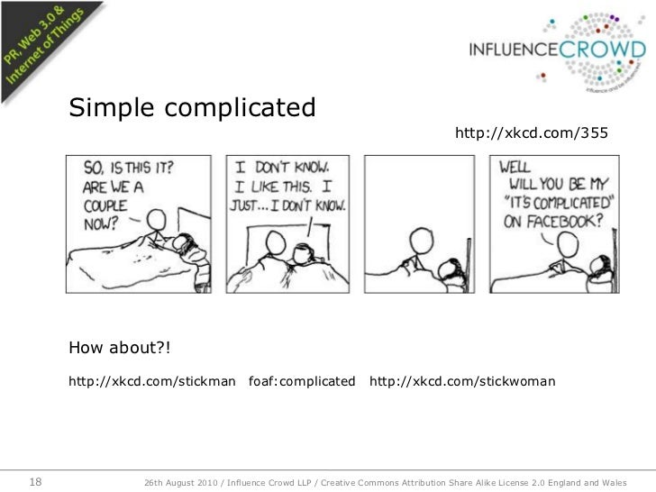 How about?!<br />http://xkcd com/stickman foaf:complicated