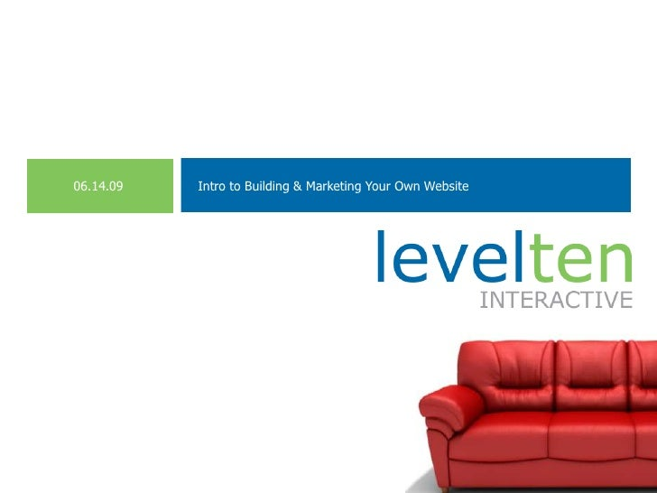 Intro to Building & Marketing Your Own Website