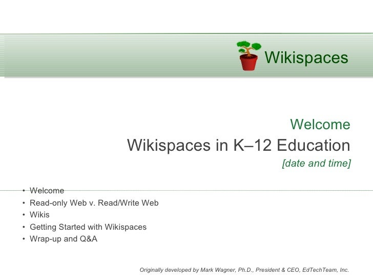 Wikispaces                                                                                     Welcome                    ...