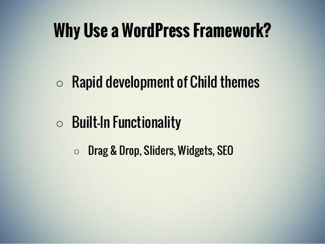 Introduction to WordPress Frameworks Slide 3